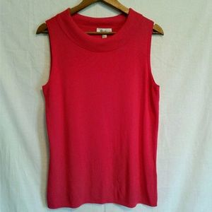 DRESSBARN Sleeveless Sweater Blouse HOT PINK XL